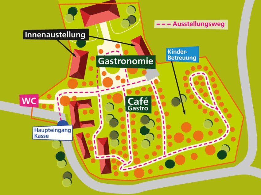 Lageplan Gartenlust Schloss Dürrenmungenau