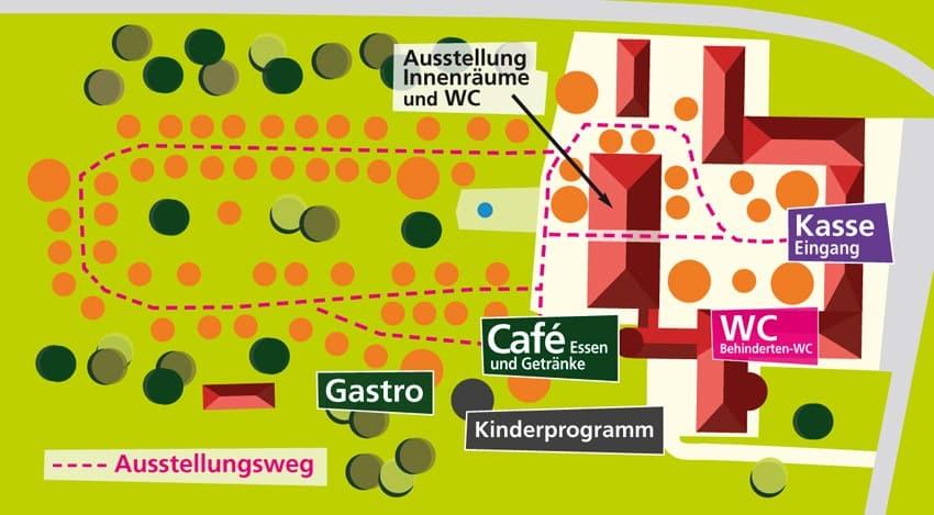 Lageplan Gartenlust Jägersburg