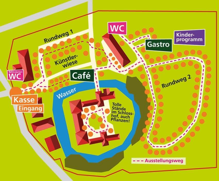 Lageplan Gartenlust Schloss Köfering
