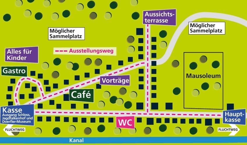 Lageplan Gartenlust Kardinalsgarten Schillingsfürst