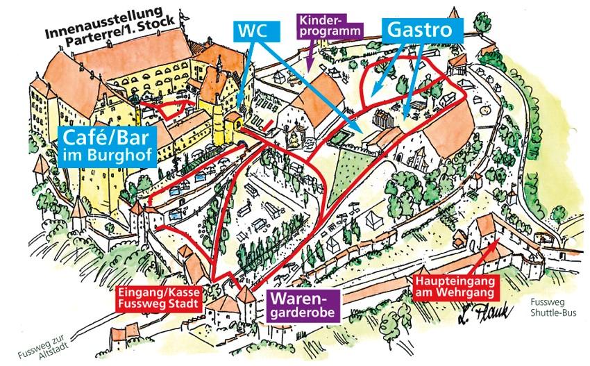 Lageplan Gartenfestival Burg Trausnitz